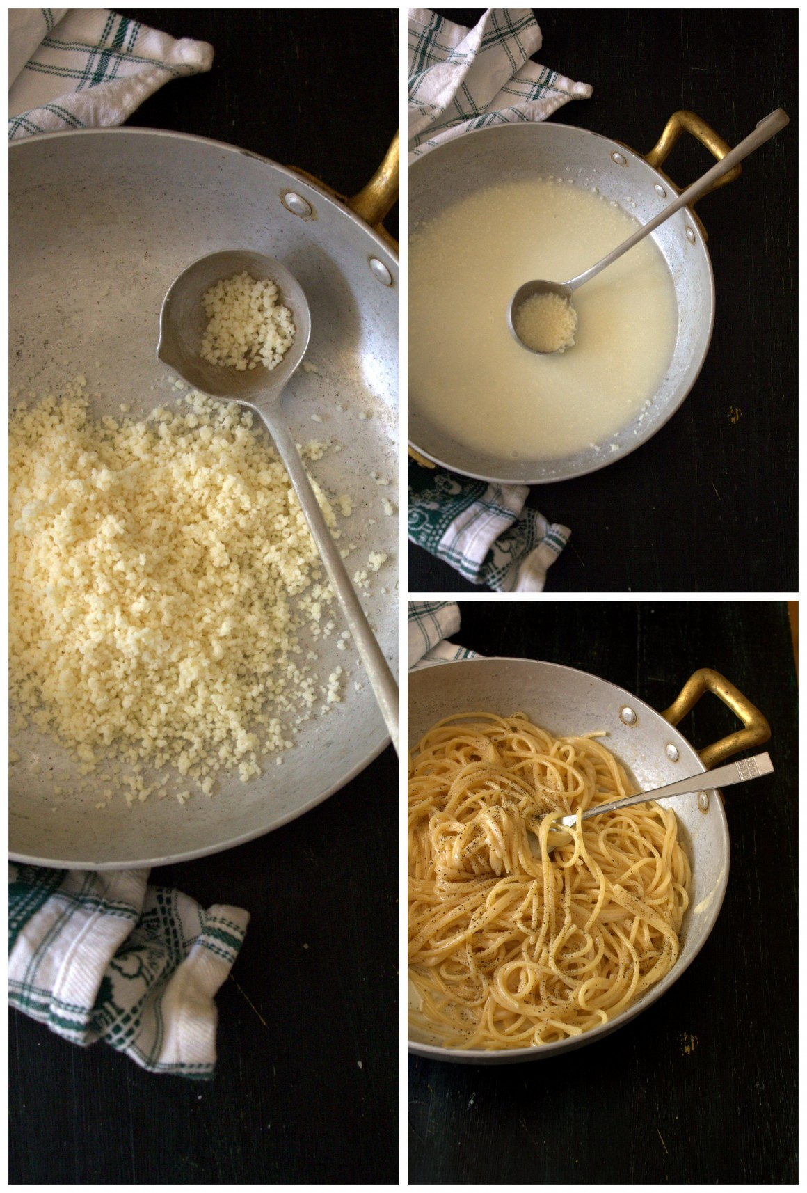 cacio e pepe collage