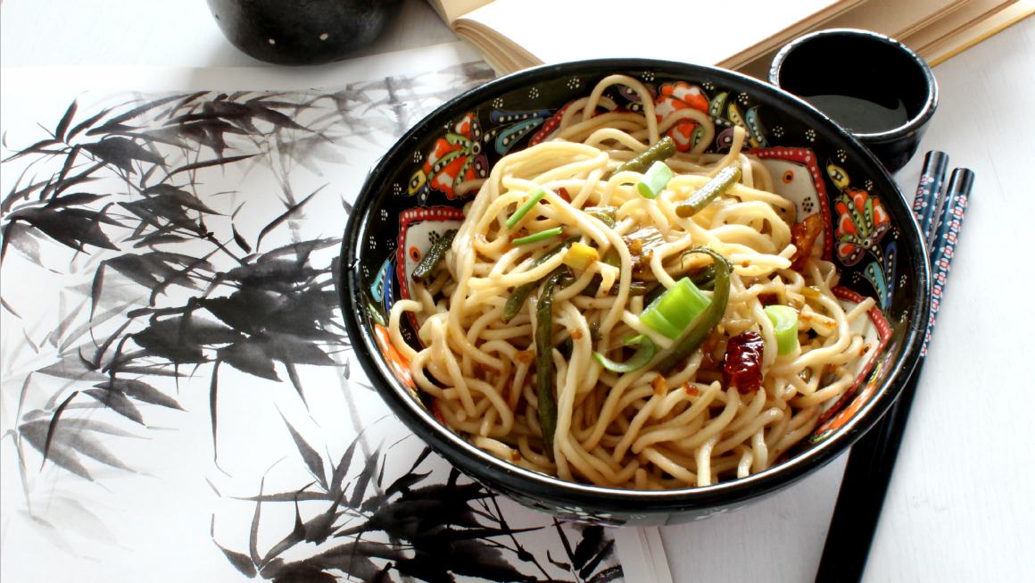 Scallion oil noodles completo
