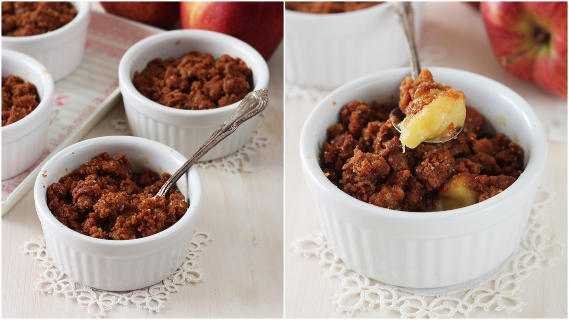 Crumble alle mele e speculoos