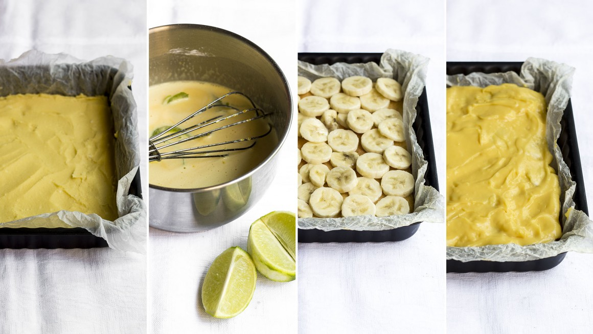 tranci alla banana e lime step