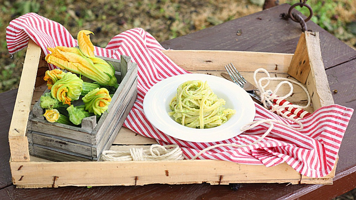 Linguine al pesto di zucchine_Ifood 1