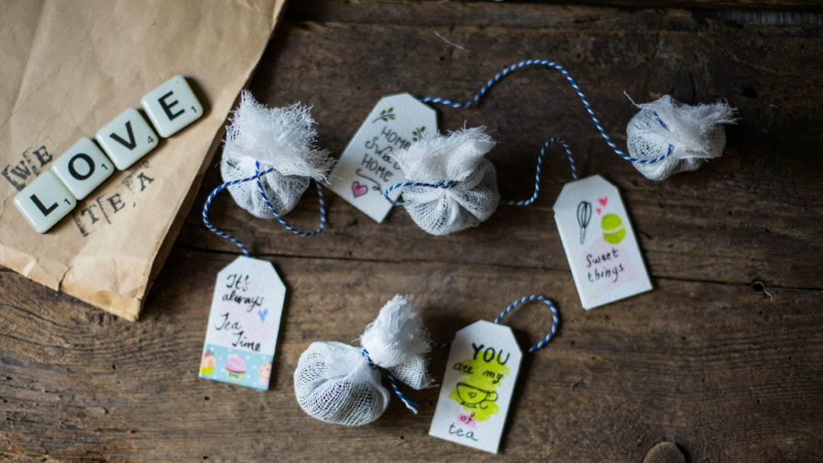 tea bags homemade tags