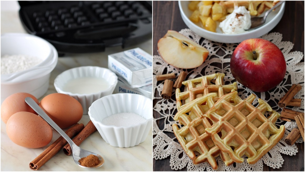 Waffels alla cannella collage 3