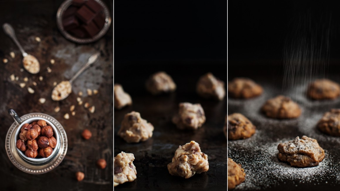 hazelnut gianduia cookies collage