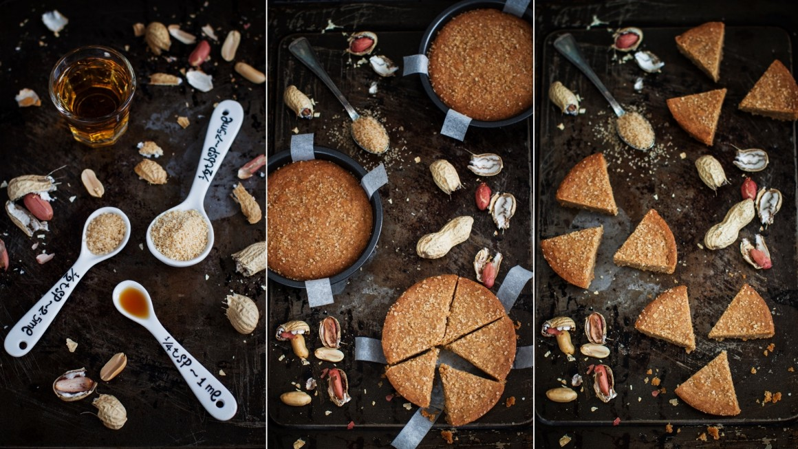 peanut shortbread collage
