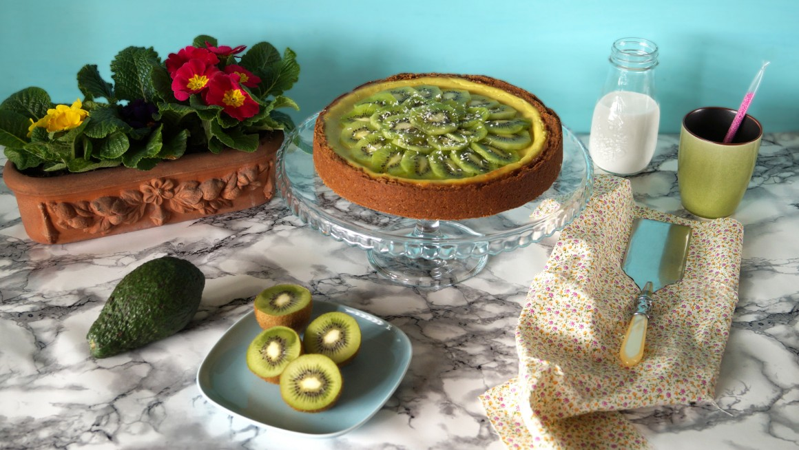 Cheesecake avocado e kiwi