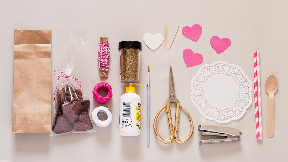 DIY Packaging di San Valentino material