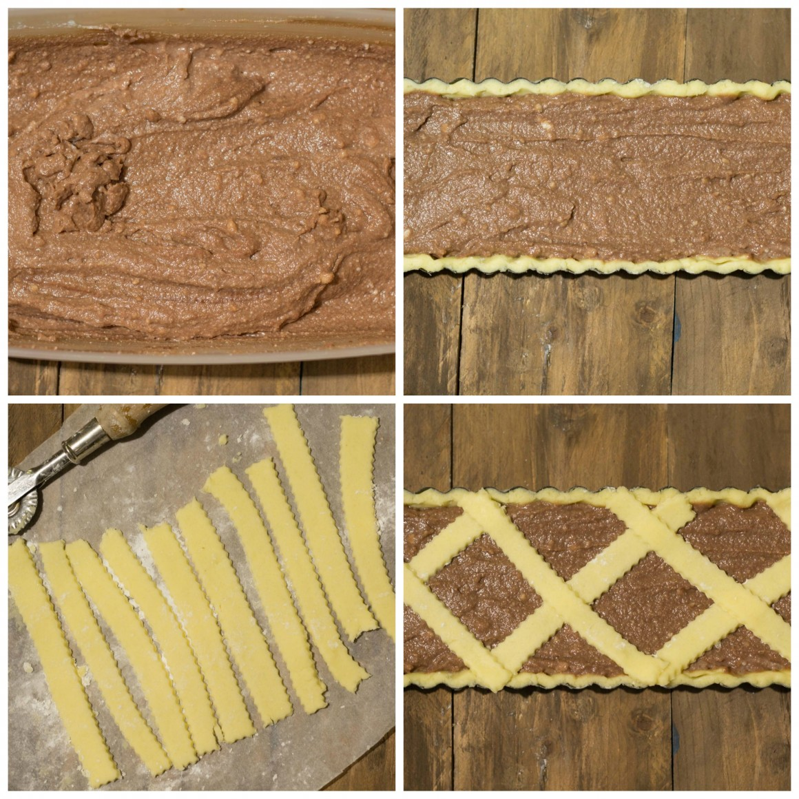 crostata ricotta e nutella tutorial