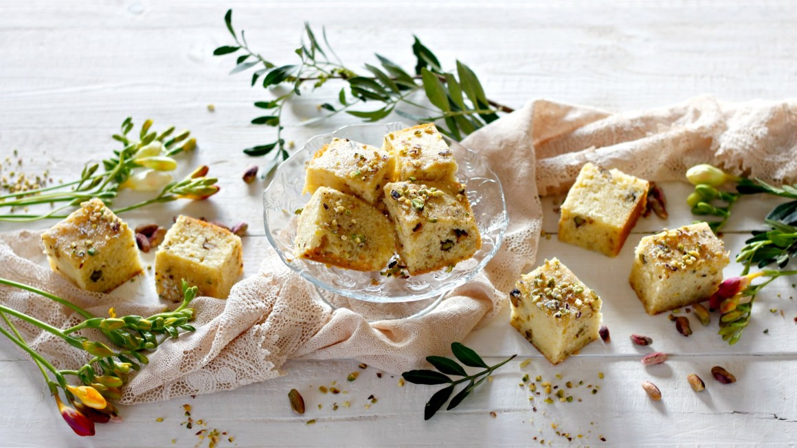 blondies ai pistacchi