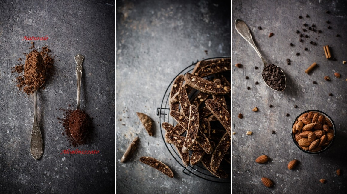 light chocolate biscotti collage