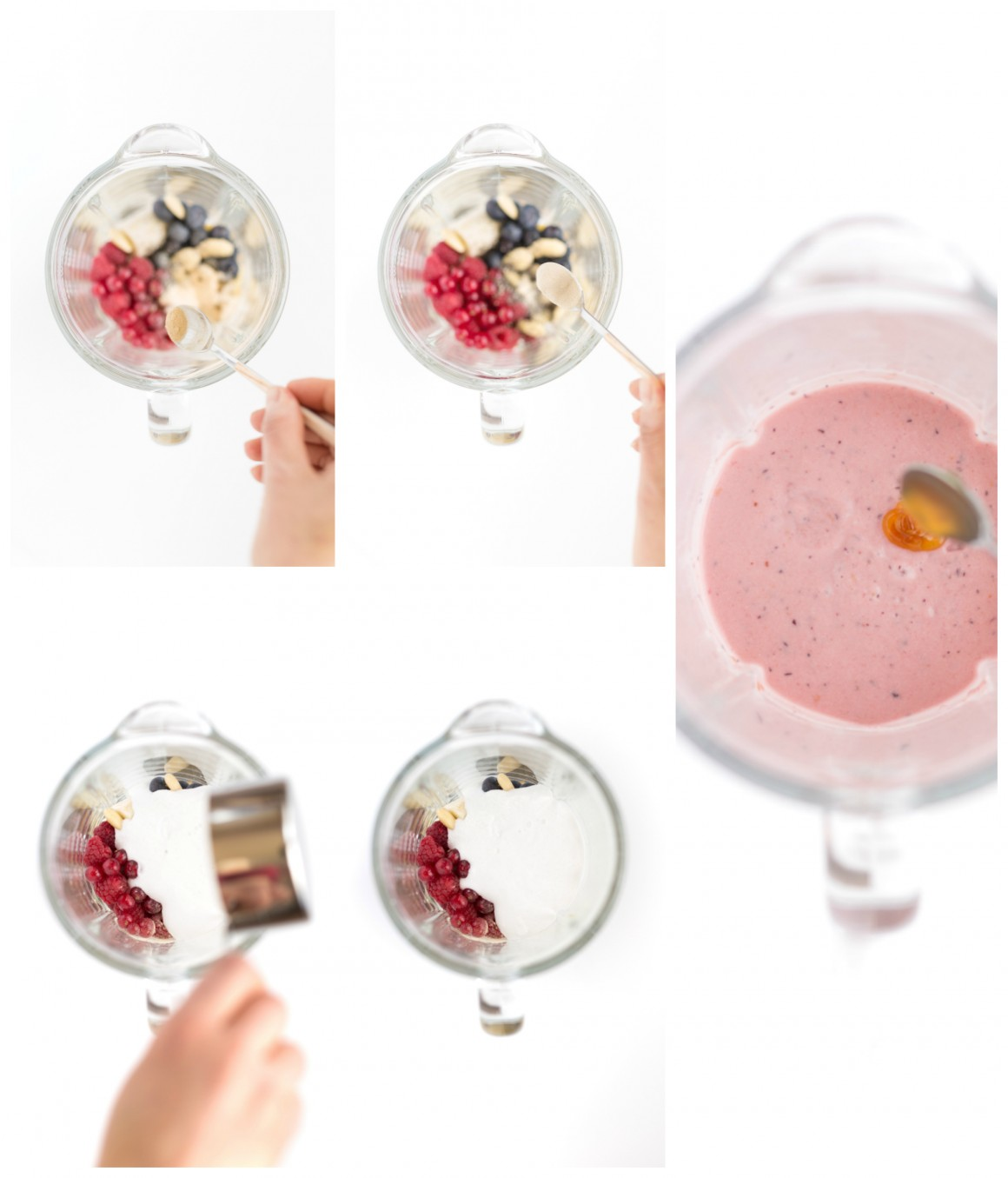 smoothie bowl ai lamponi e frutti di bosco come preparare