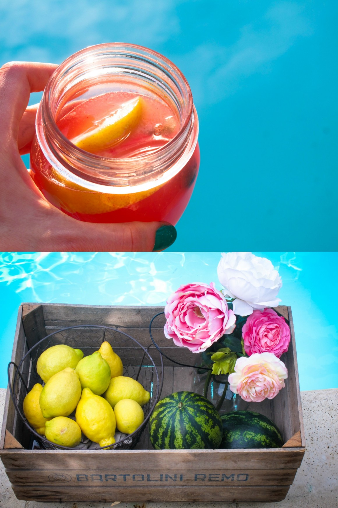 watermelon lemonade collage 2