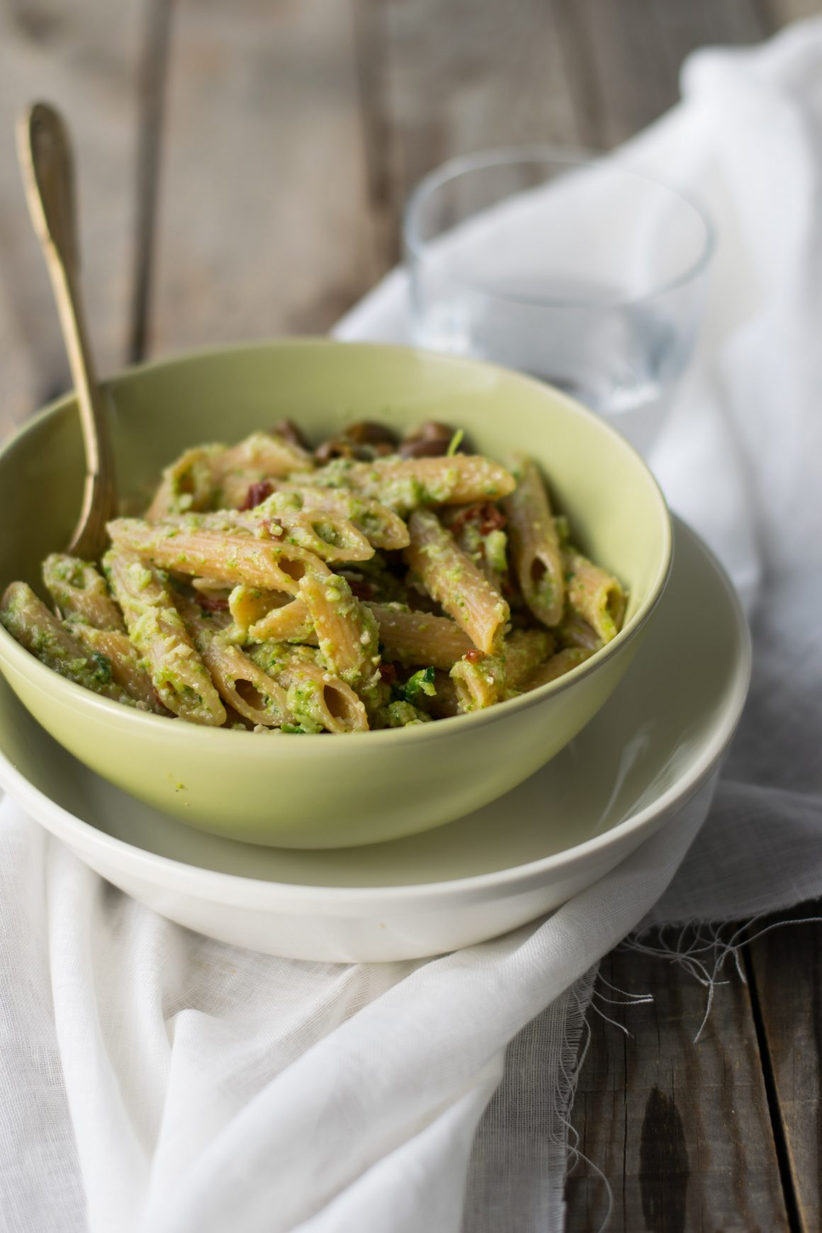 Penne al pesto di broccoli-7