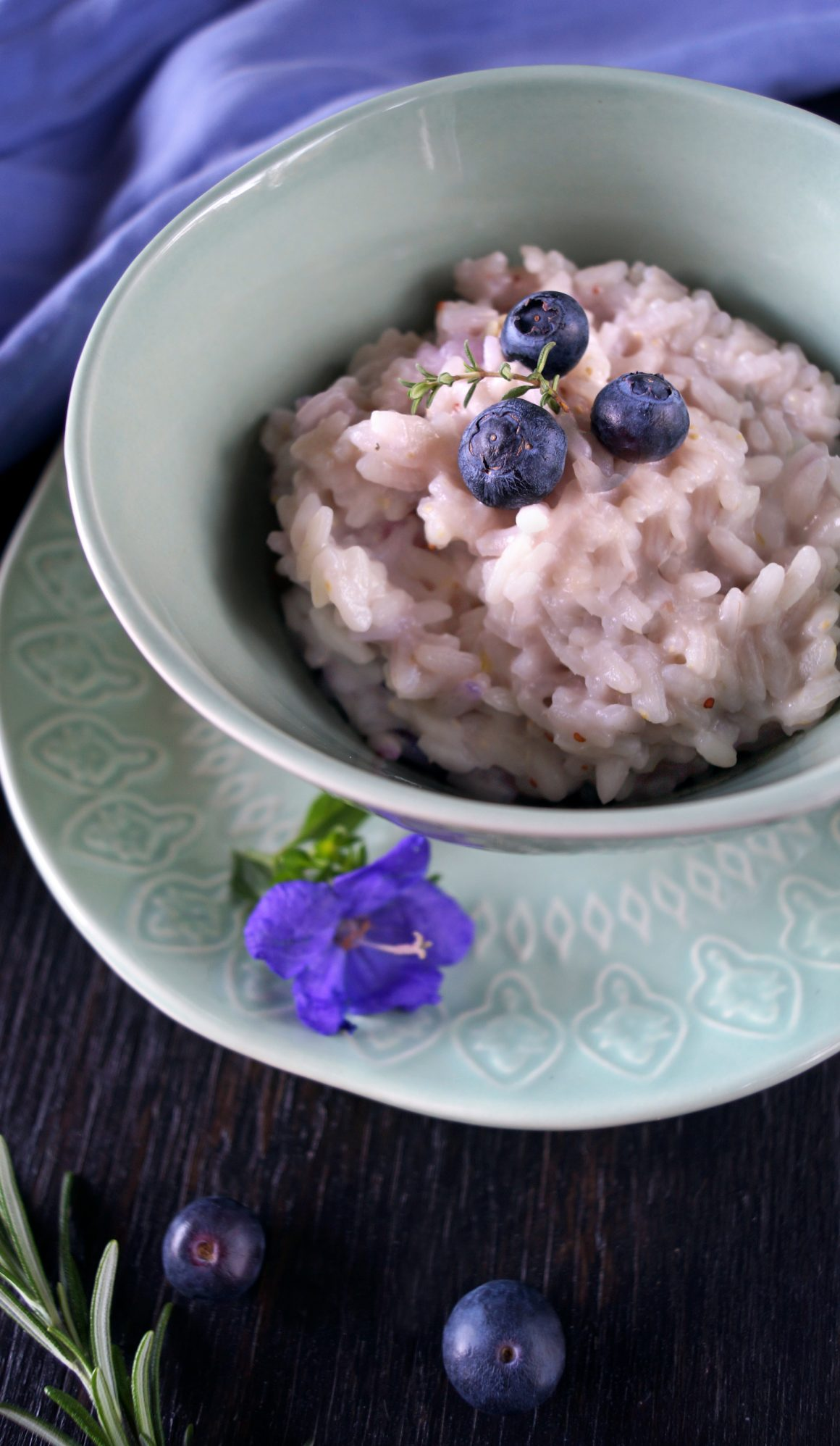 risotto gorgonzola mirtilli