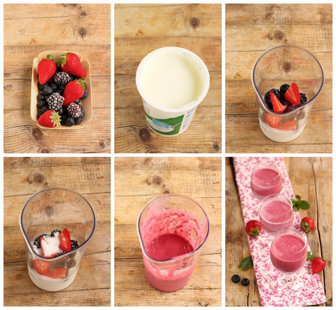smoothie frutti di bosco